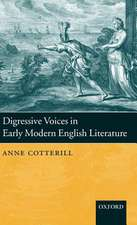 Digressive Voices in Early Modern English Literature