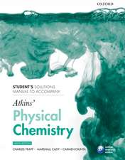 Student's solutions manual to accompany Atkins' Physical Chemistry 9/e