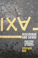 Discourse and Genre: Using Language in Context