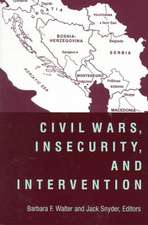 Civil War, Insecurity and Intervention