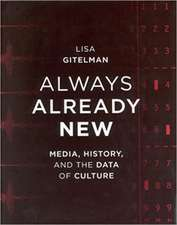 Always Already New – Media, History and the Data of Culture
