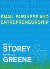 Storey, D: Small Business and Entrepreneurship