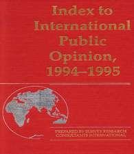 Index to International Public Opinion, 1994-1995
