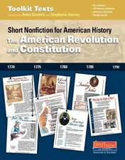 The American Revolution and Constitution:  Short Nonfiction for American History