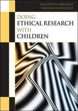 Doing Ethical Research with Children