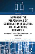 Improving the Performance of Construction Industries for Dev