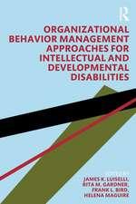 Organizational Behavior Management Approaches for Intellectual and Developmental Disabilities
