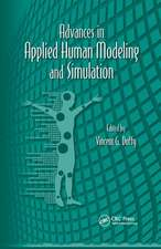 Advances in Applied Human Modeling and Simulation