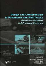 Design and Construction of Pavements and Rail Tracks