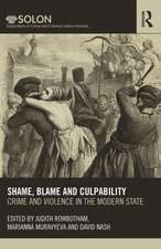 Crime, Violence, and the Modern State, 1600-1900