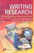Writing Research: Transforming Data into Text