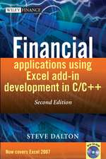Financial Applications using Excel Add–in Development in C / C++