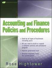 Accounting and Finance Policies and Procedures: (with URL)