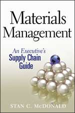 Materials Management: An Executive′s Supply Chain Guide