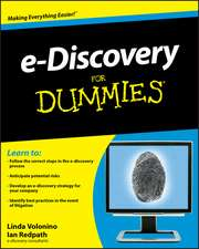 e–Discovery For Dummies