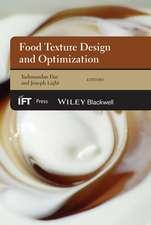 Food Texture Design and Optimization
