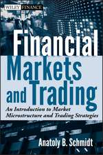 Financial Markets and Trading: An Introduction to Market Microstructure and Trading Strategies