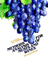 Methods Analysis of Musts and Wines