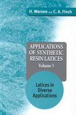 Applications of Synthetic Resin Latices: Latices in Diverse Applications