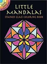 Little Mandalas Stained Glass Coloring Book