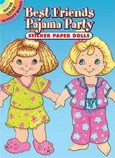 Best Friends Pajama Party Sticker Paper Dolls
