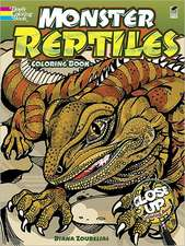 Monster Reptiles:  A Close Up Coloring Book