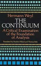 The Continuum:  A Critical Examination of the Foundation of Analysis