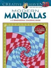 Modern Mandalas:  A 3-Dimensional Coloring Book [With 3-D Glasses]