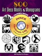 800 Art Deco Motifs and Monograms