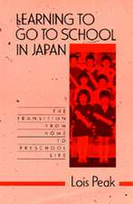 Learning to go to School in Japan – The Transition  from Home to Preschool Life (Paper)