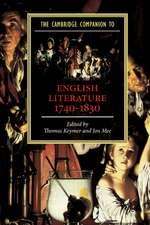 The Cambridge Companion to English Literature, 1740–1830