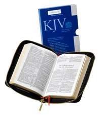 KJV Pocket Reference Bible, Black French Morocco Leather with Zip Fastener, Red-letter Text, KJ243:XRZ Black French Morocco Leather, with Zip Fastener