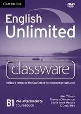 English Unlimited Pre-intermediate Classware DVD-ROM