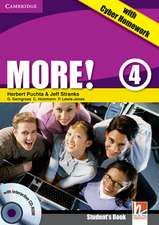 More! Level 4 Turkish Edition Student's Book with CD-ROM with Cyber Homework, Workbook with Audio CD and Extra Practice Book Pack