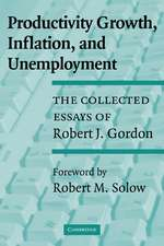 Productivity Growth, Inflation, and Unemployment: The Collected Essays of Robert J. Gordon