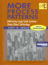 More Process Patterns:  Delivering Large-Scale Systems Using Object Technology