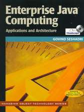 Enterprise Java Computing: Applications and Architectures