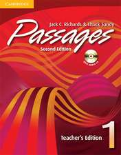 Passages Teacher's Edition 1 with Audio CD: An upper-level multi-skills course