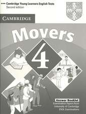 Cambridge Young Learners English Tests Movers 4 Answer Booklet: Examination Papers from the University of Cambridge ESOL Examinations