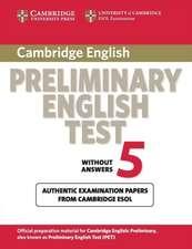 Cambridge Preliminary English Test 5 Student's Book