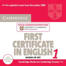 Cambridge First Certificate in English 1 for Updated Exam Audio Cds (2)