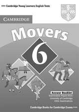 Cambridge Young Learners English Tests 6 Movers Answer Booklet: Examination Papers from University of Cambridge ESOL Examinations