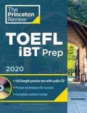 Princeton Review TOEFL IBT Prep with Audio CD, 2020