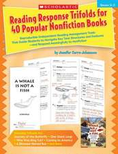 Reading Response Trifolds for 40 Popular Nonfiction Books, Grades 2-3:  Reproducible Independent Reading Management Tools That Guide Students to Naviga