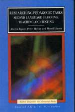 Researching Pedagogic Tasks:  Second Language Learning, Teaching and Testing