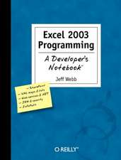 Excel 2003 Programming:  The Art of Incident Response