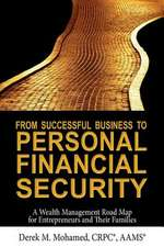 From Successful Business to Personal Financial Security