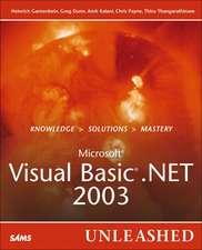 Gantenbein, H: Visual Basic .Net 2003 Unleashed