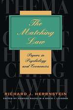 The Matching Law – Papers in Psychology & Economics