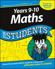 Years 9–10 Maths For Students